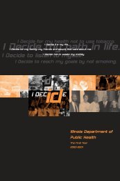 I Decide, The First Year, 2000 - Illinois Department of Public Health