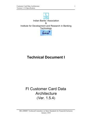 FI Card Data Architecture Document Ver 1.5.4.pdf - IDRBT