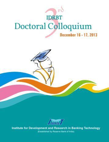 Third IDRBT Doctoral Colloquium
