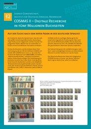 Posterpräsentation - Institut für Deutsche Sprache