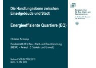 Energieeffiziente Quartiere (EQ) - Berliner Energietage