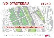 10. Vorlesung: Stadtgestalt – Stadtgestaltung VO Städtebau ... - lamp
