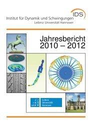 Jahresbericht 2010-2012 - IDS - Leibniz Universität Hannover