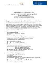 Wintersemester 2013/14 - IDS
