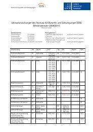 Wintersemester 2009/2010 - IDS
