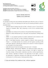 Bianchi Vending Group General Terms and conditions of