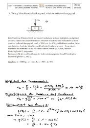 5. Übung: Maschinenaufstellung und relativer ... - IDS