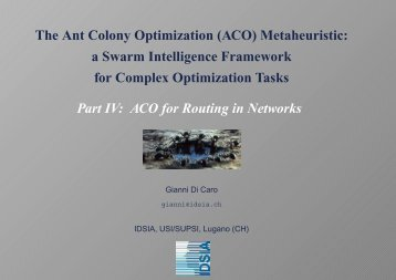 The Ant Colony Optimization (ACO) Metaheuristic: a Swarm ...