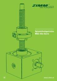 Spindelhubgetriebe MSZ-Alu-Serie | ZIMM Prospekt - DE