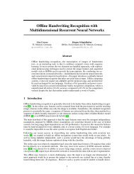 Offline Handwriting Recognition with Multidimensional ... - Idsia