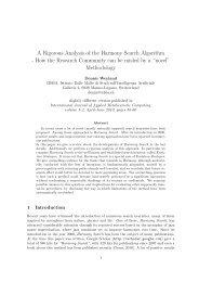 A Rigorous Analysis of the Harmony Search Algorithm - How ... - Idsia