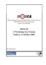 MINUTE 2 Workshop User Forum Padova, 11 Ottobre 2002 - Idsia
