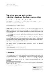 The robust shortest path problem with interval data via ... - Idsia