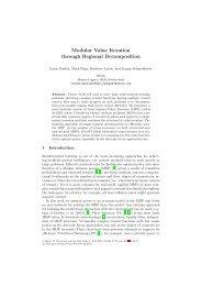 Modular Value Iteration through Regional Decomposition - Idsia