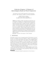 Coherence Progress: A Measure of Interestingness Based on ... - Idsia