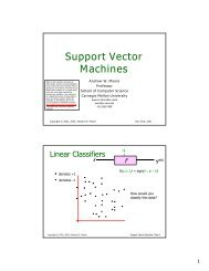 Support Vector Machines - The Auton Lab