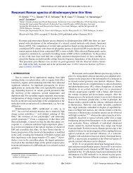 Resonant Raman spectra of diindenoperylene thin films - Idsia