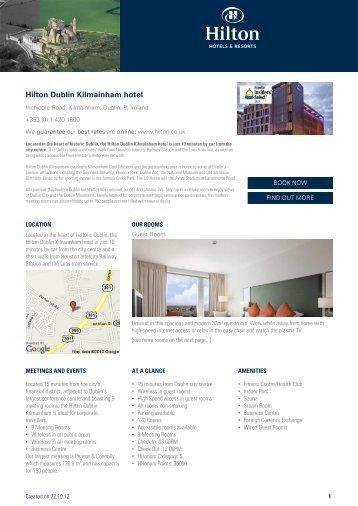 Hilton Dublin Kilmainham hotel - Hotel eBrochures