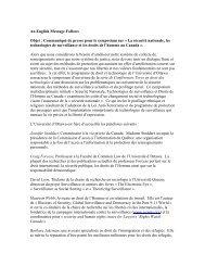 An English Message Follows Objet : Communiqué de presse pour le ...