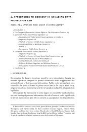 Chapter 2. Approaches to Consent in Canadian Data Protection Law ...