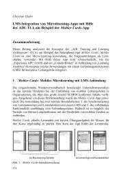 LMS-Integration von Microlearning-Apps mit Hilfe der ADL TLA am ...