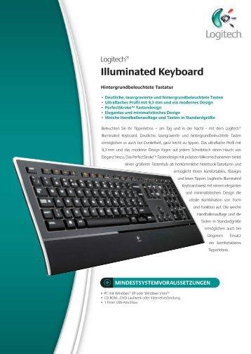 Datenblatt Logi Illuminated Keyboard deutsch - ARP