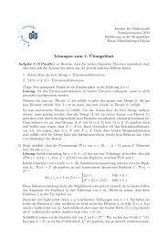 Lösungen zum 1. ¨Ubungsblatt