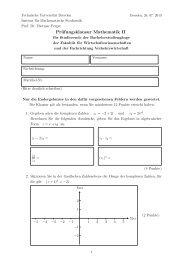 Gruppe B - Fachrichtung Mathematik - Technische Universität Dresden