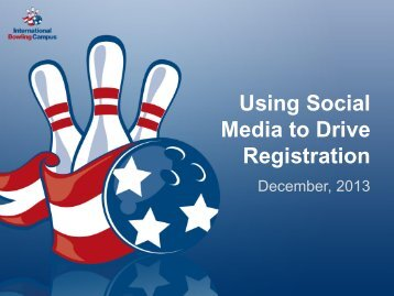 Using Social Media to Drive Registration