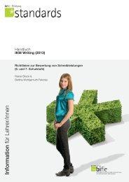 Handbuch IKM Writing (2013). Richtlinien zur Bewertung von ... - Bifie