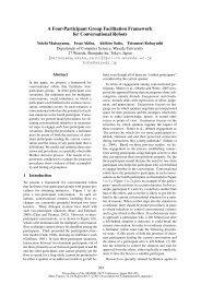 A Four-Participant Group Facilitation Framework for Conversational ...