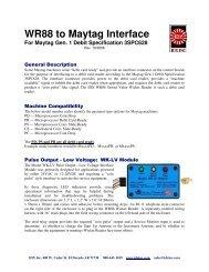 Maytag Specific Instructions - IDX Inc