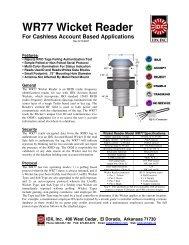 WR77 Wicket Reader - IDX Inc