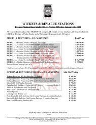 WICKETS & REVALUE STATIONS - IDX Inc