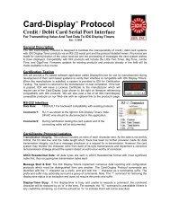 Card-Display Specification PDF - IDX Inc