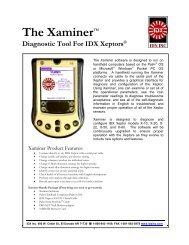 Manual - PDF 315K - IDX Inc