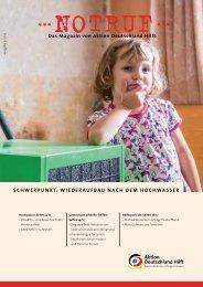 Wiederaufbau nach dem Hochwasser - Aktion Deutschland Hilft