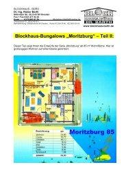 """Blockhaus-Bungalows """"Moritzburg"""" – Teil II: - Blockhaus Barth"""