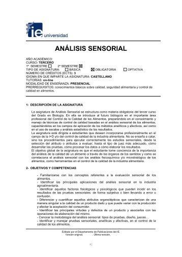 ANÁLISIS SENSORIAL - IE