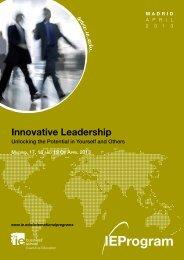 Innovative Leadership Program Brochure[pdf] - IE