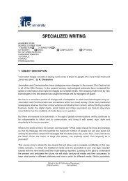SPECIALIZED WRITING - IE