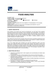 FOOD ANALYSIS - IE