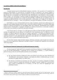 LA NUEVA DIRECCIÓN FINANCIERA(*) Introducción. Cualquier ...