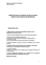 Análisis del entorno competitivo del sector funerario español y ... - IE