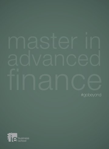 download masters in finance brochure - IE