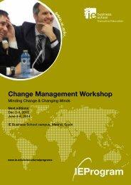 Change Management Workshop Program Brochure[pdf] - IE