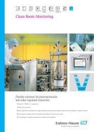 Clean room monitoring brochure (PDF 6,38 MB) - Endress+Hauser ...