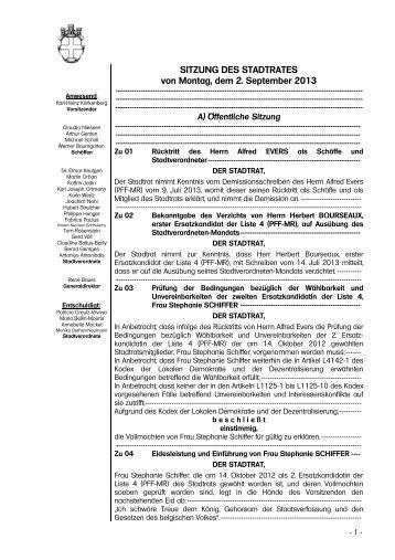 07 Protokollbuch 02.09.2013 - Stadt Eupen