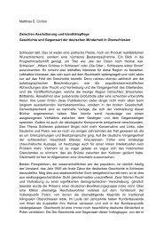 Zwischen Assimilierung und Identitätspflege Geschichte und ...