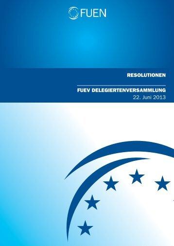 Resolutionen 2013